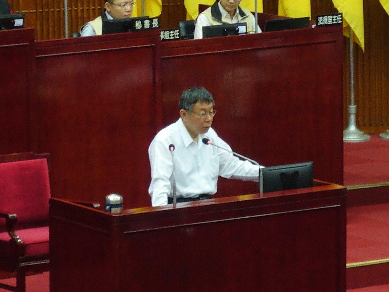 台北市長柯文哲今赴議會專案報告時,雙城論壇也成為議員關心焦點之一,對於今年雙城論...