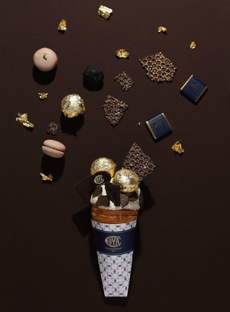 高奢版「金迷松露沙巴雍可頌冰淇淋」每份售價1200元。圖/COVA提供