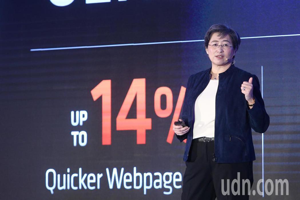 超微(AMD)總裁暨執行長蘇姿丰今天在台北國際電腦展前記者會上,一口氣發表了多款...