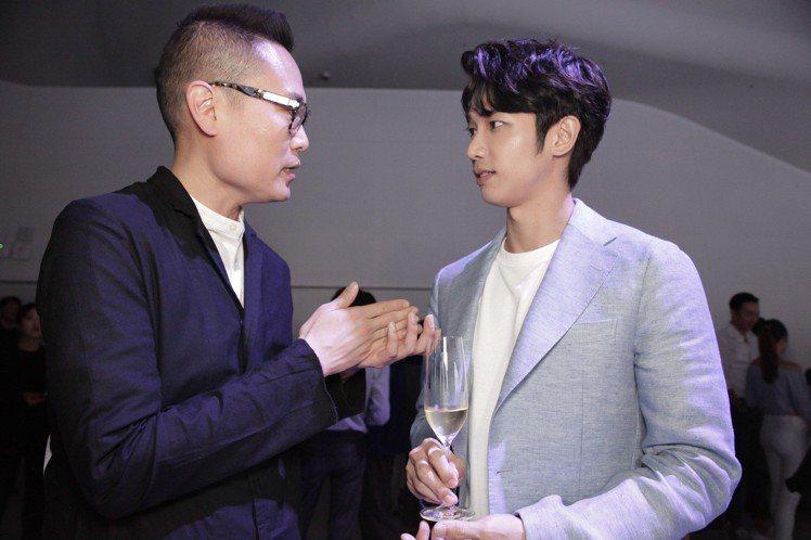 劉以豪與韓籍設計師Yong Bae Seok。圖/迪生提供