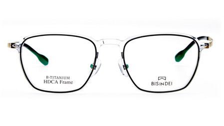 Bis in dei HDCA026-TBB透明眼鏡框,3,990元。圖/永三提...