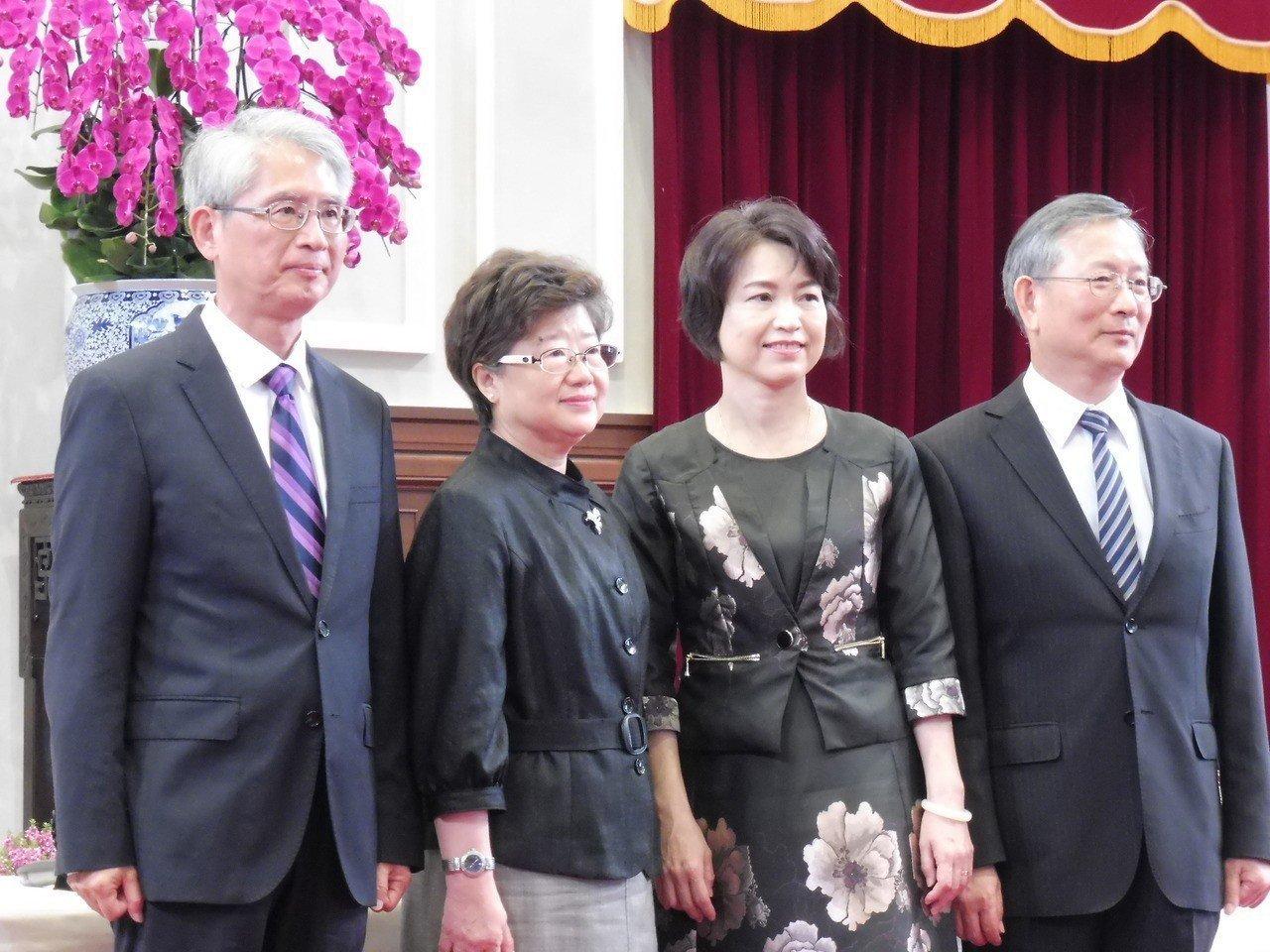 大法官被提名人,左起謝銘洋、楊惠欽、蔡宗珍、呂太郎。記者賴于榛/攝影