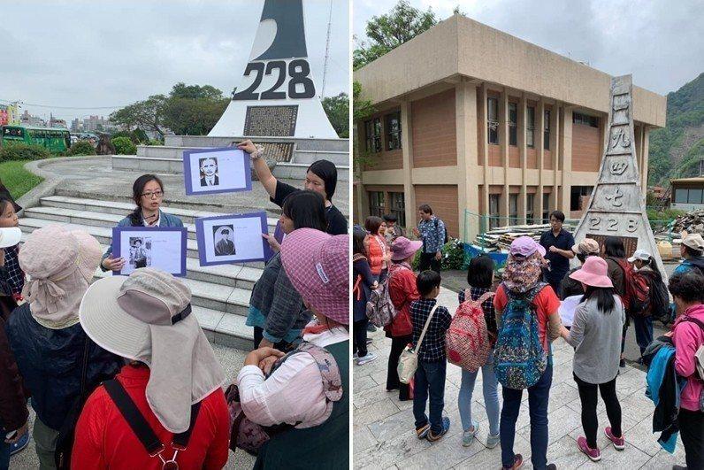 左:嘉義228紀念碑;右:位於達邦部落、全台海拔最高的228紀念碑。 圖/台灣原...
