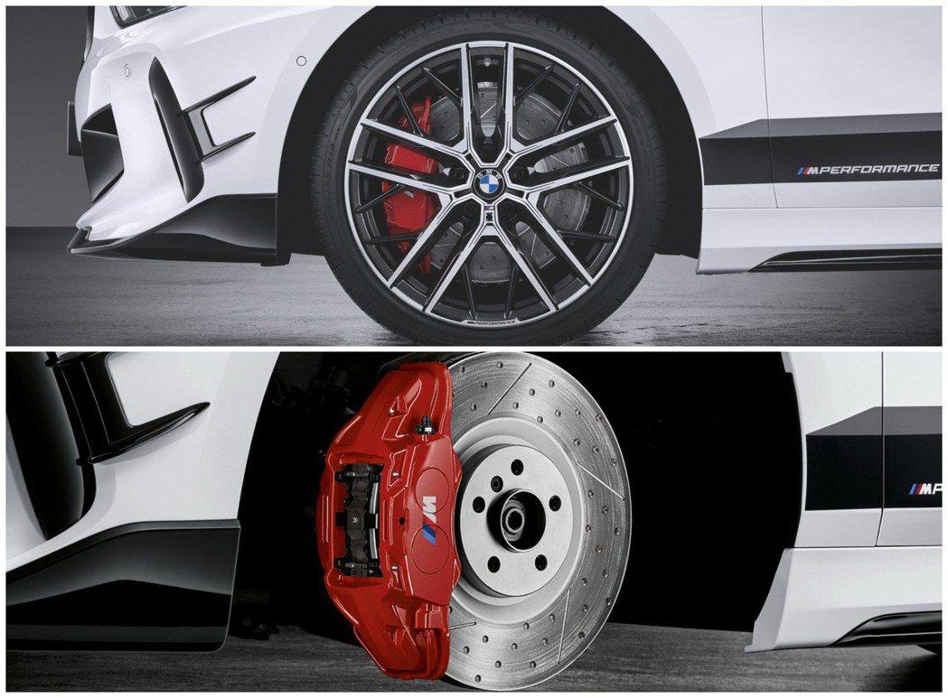 專屬1 Series的M Performance套件還包括了大尺碼鋁圈與剎車碟盤...