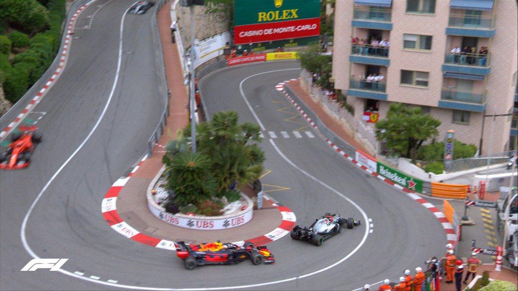 摩納哥著名的「費蒙酒店髮夾彎」。 摘自F1