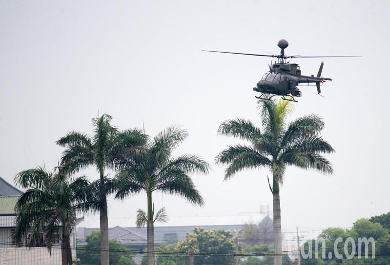 陸軍OH-58D直升機。聯合報系資料照/記者胡經周攝影