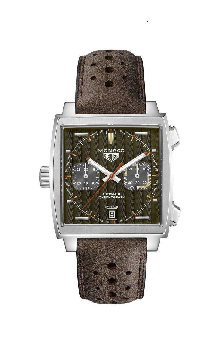 泰格豪雅Monaco 1969–1979限量典藏版腕表,不鏽鋼表殼,搭載Cali...
