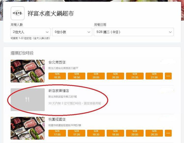 祥富水產官網,已可見到新店家樂福店的相關訊息。圖/擷取自祥富水產官網