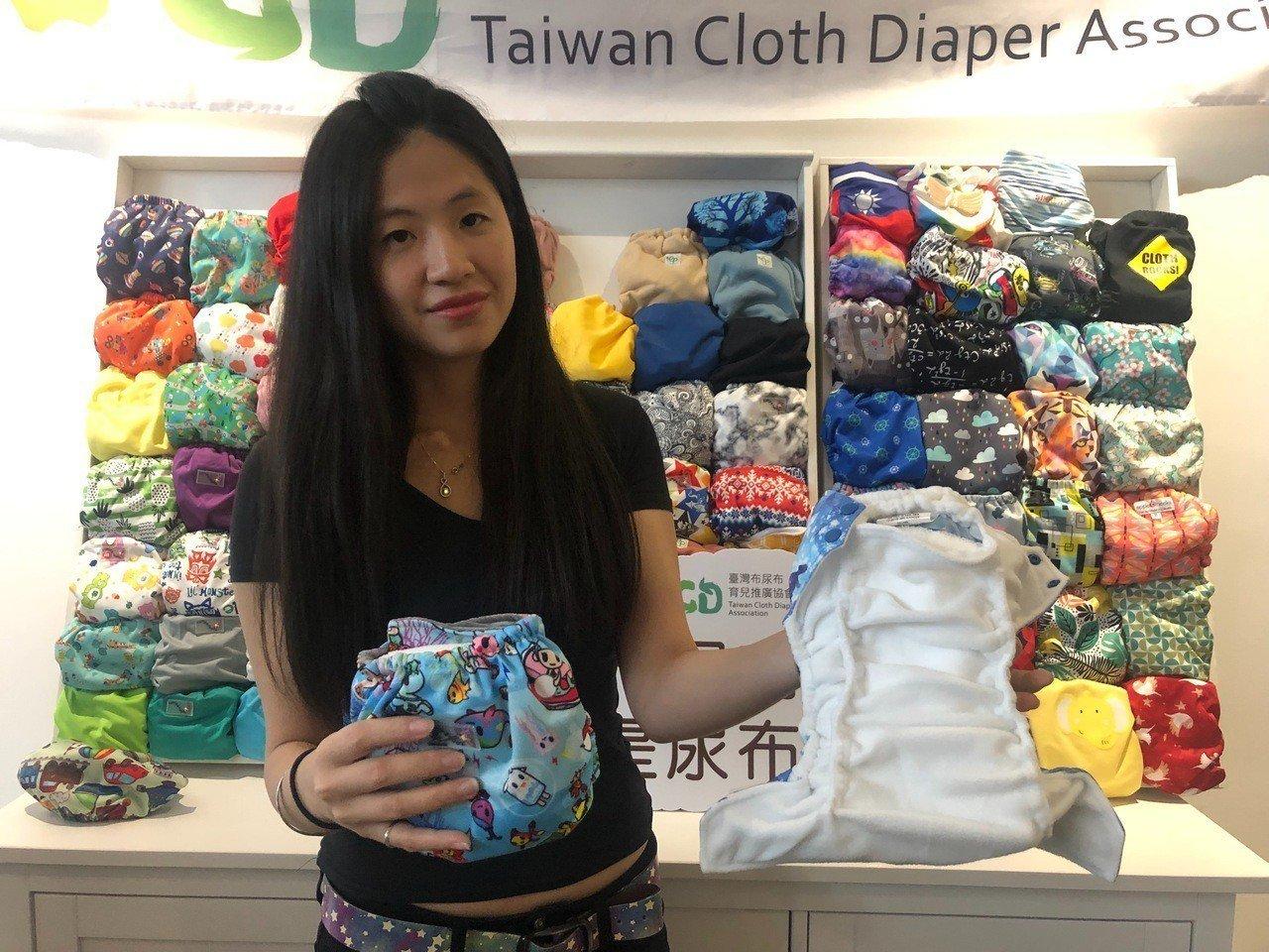 台灣布尿布推廣協會創辦人蔣敏俐。記者侯俐安/攝影
