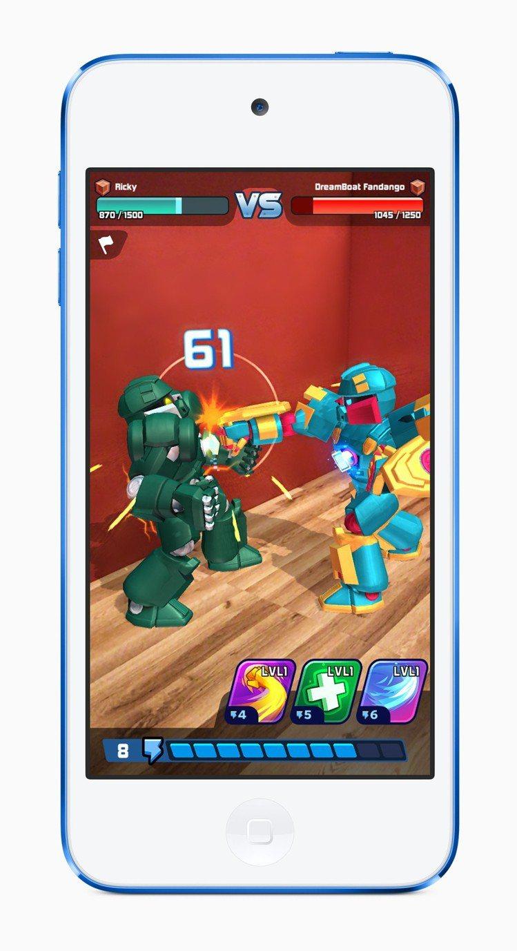 iPod Touch現在也支援AR擴增實境遊戲。圖/蘋果提供