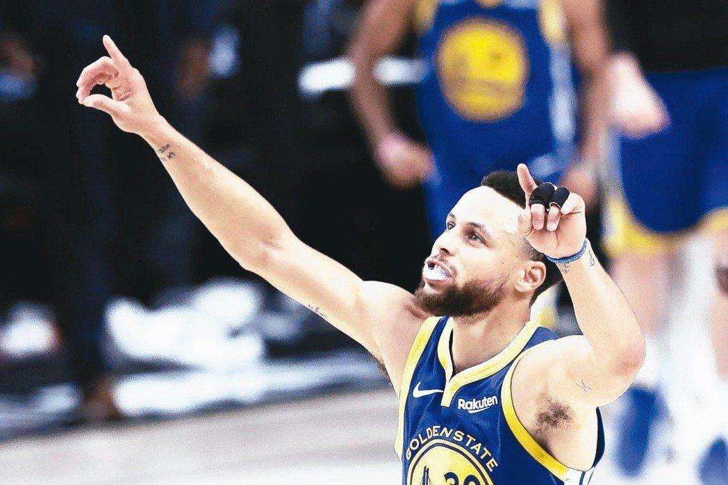 美國專家一致看好由柯瑞領軍的勇士隊可拿下NBA總冠軍。 歐新社