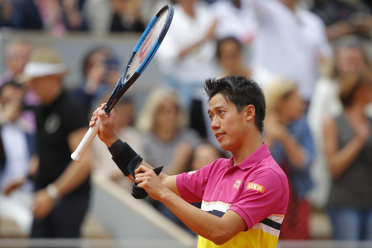 日本網球一哥錦織圭。 美聯社