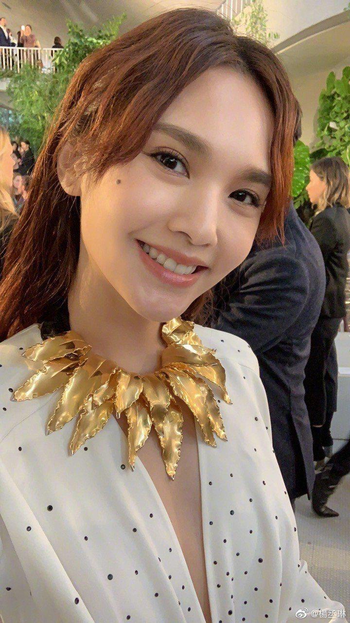 楊丞琳右臉有顆痣。圖/擷自weibo。