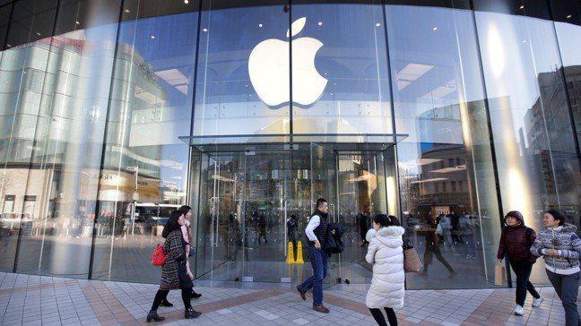 蘋果在中國北京的門市。 路透
