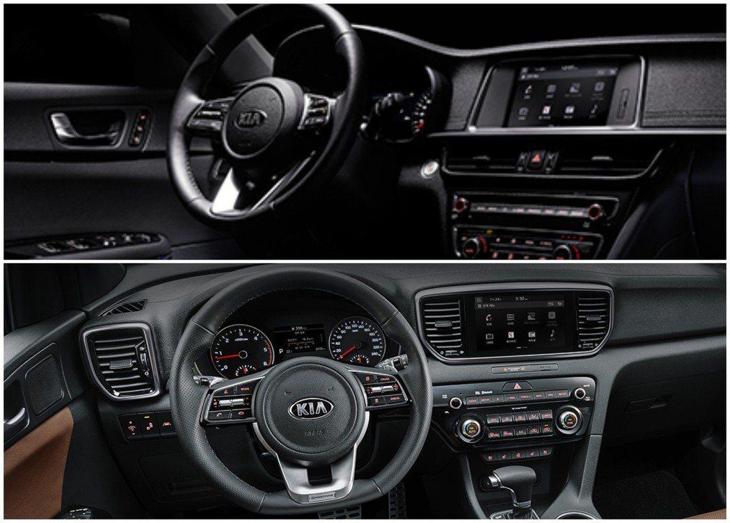 尚未大改款、現行版的Kia K5(圖上)與Sportage(圖下),都不是使用懸...