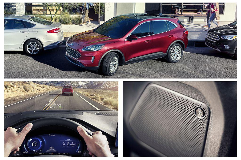 列為最頂級的Ford Escape Titanium除將輪框升級到19吋、增加L...