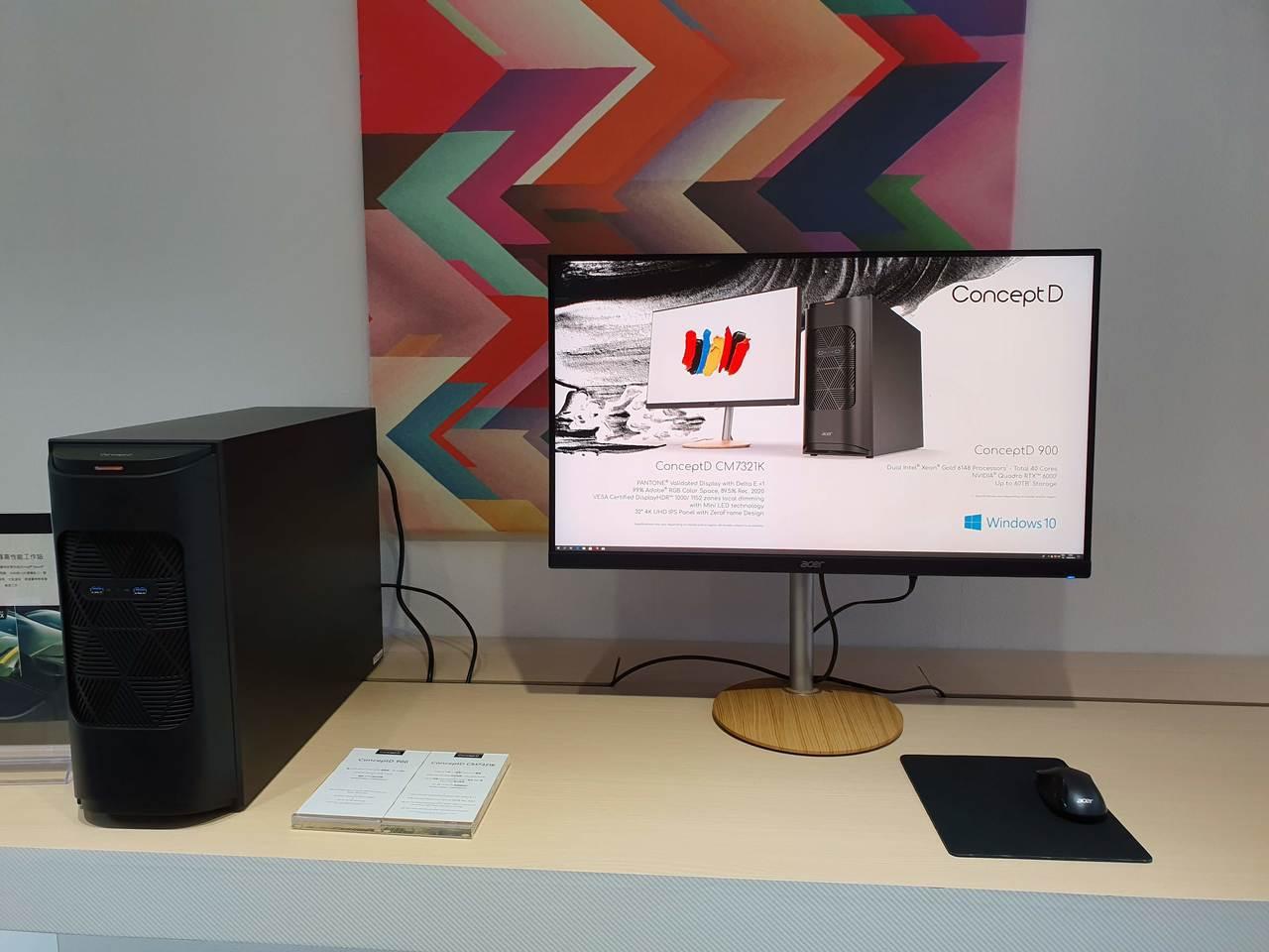 ConceptD 900專業工作站非常適合用於大型工作室的大規模專案。記者黃筱晴...