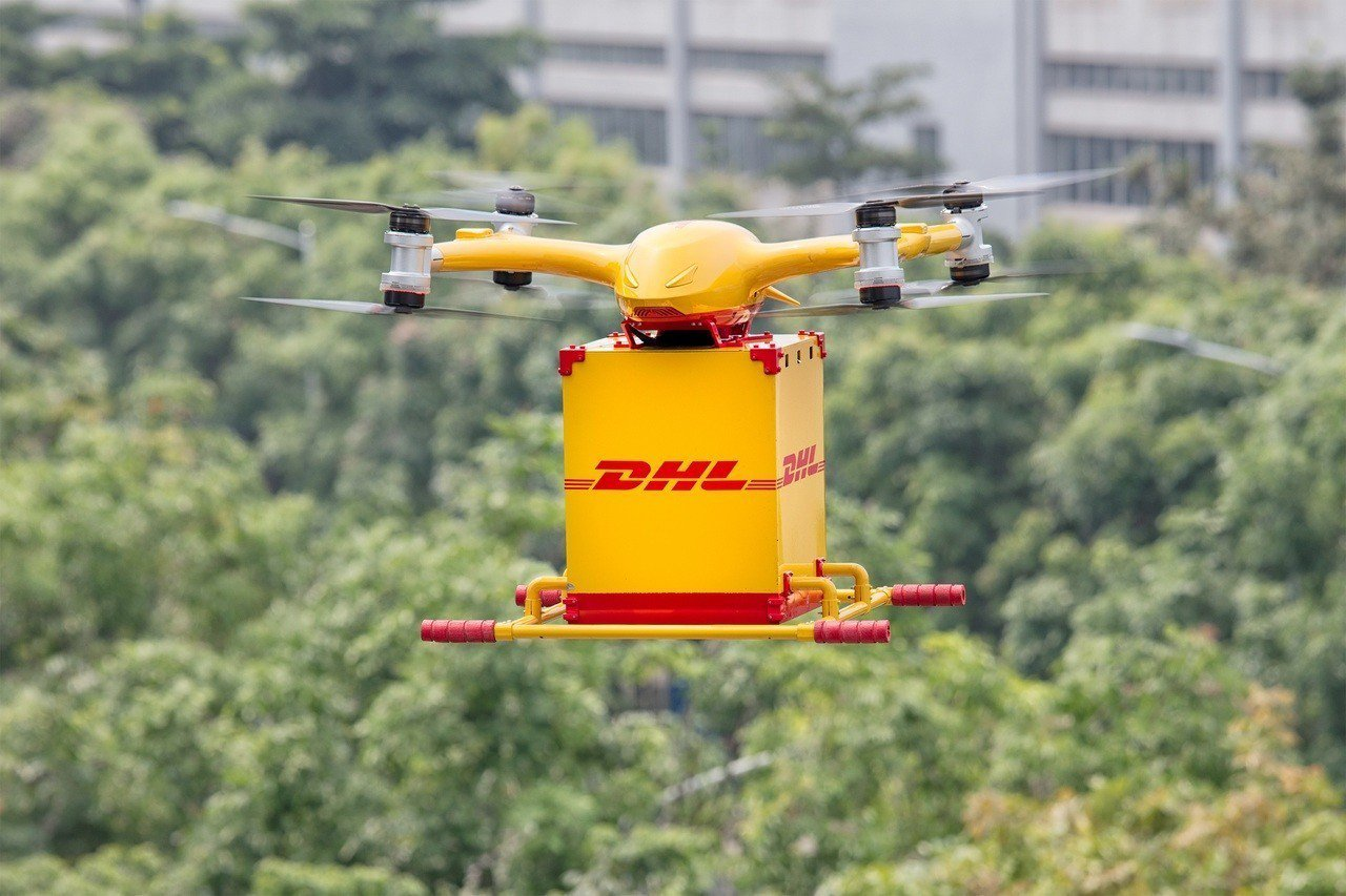DHL國際快遞首度於中國推出全自動智慧型物流無人機遞送服務。 圖/DHL提供