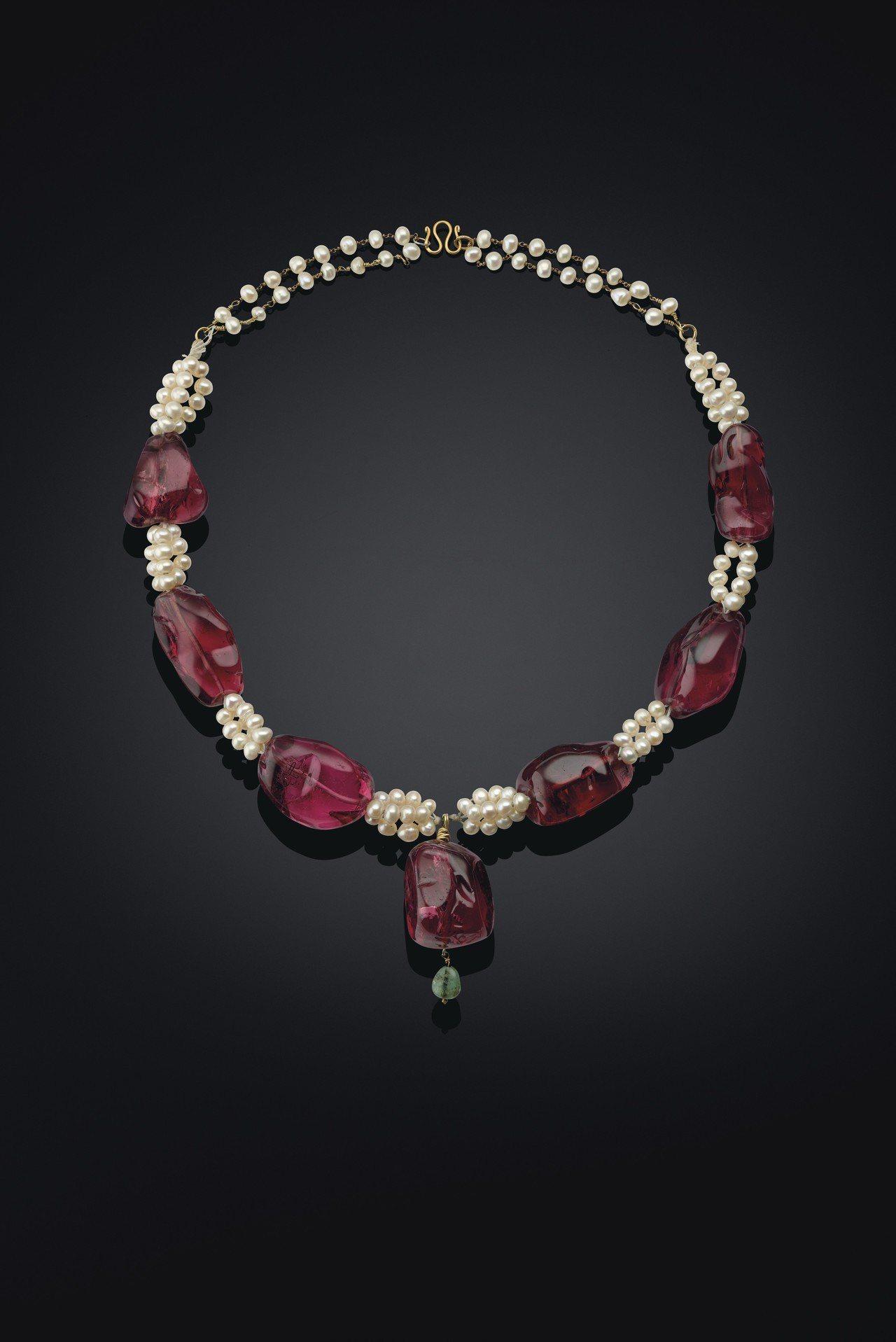 皇室尖晶石項鍊,印度北部,尖晶石可追溯至西元1607-1608年,1754-17...