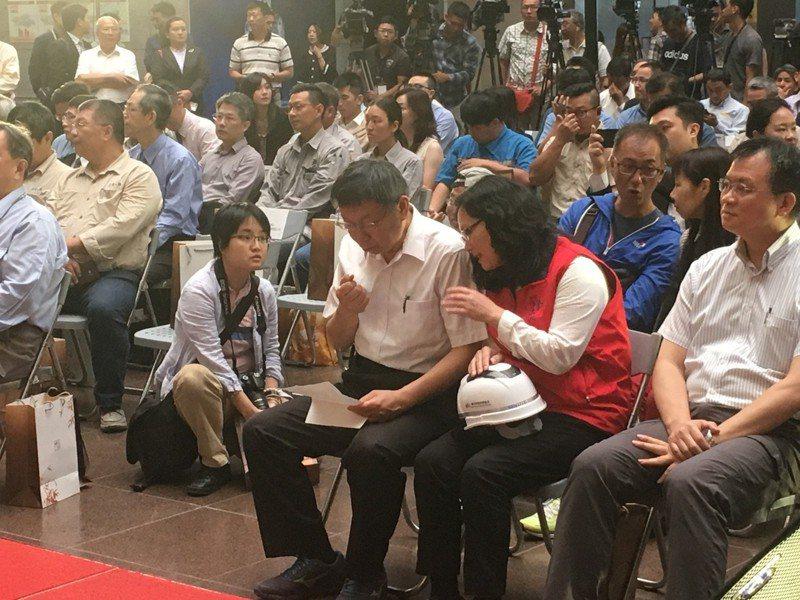 台北市長柯文哲今天上午出席「台北市勞動安全獎頒獎典禮活動」。記者張世杰/攝影