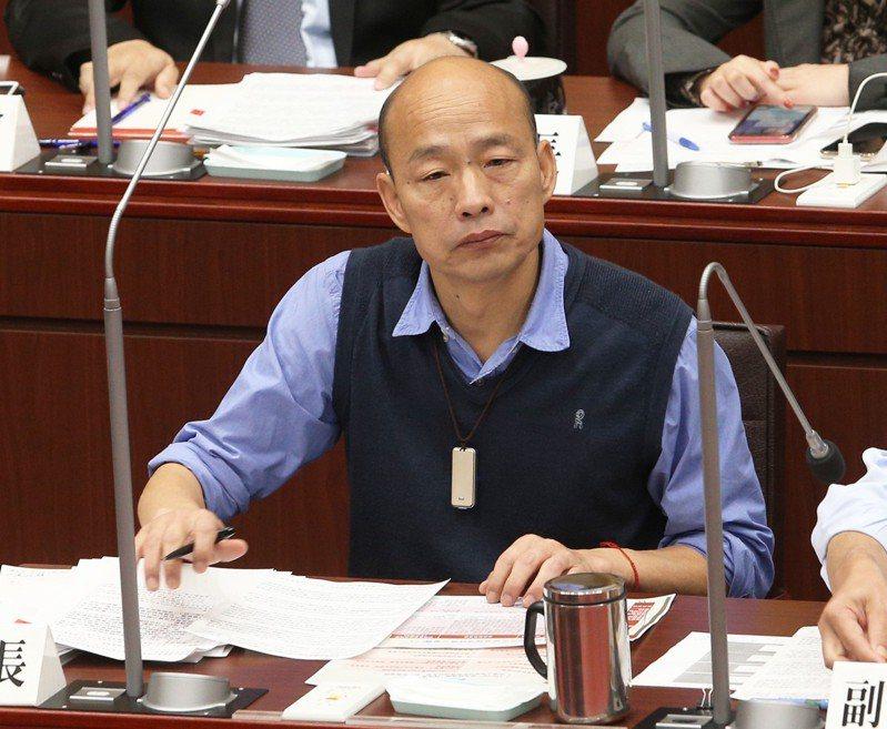 高雄市長韓國瑜鬆口要選總統,作家苦苓為他寫了一封「情書」。  圖/本報系資料照片