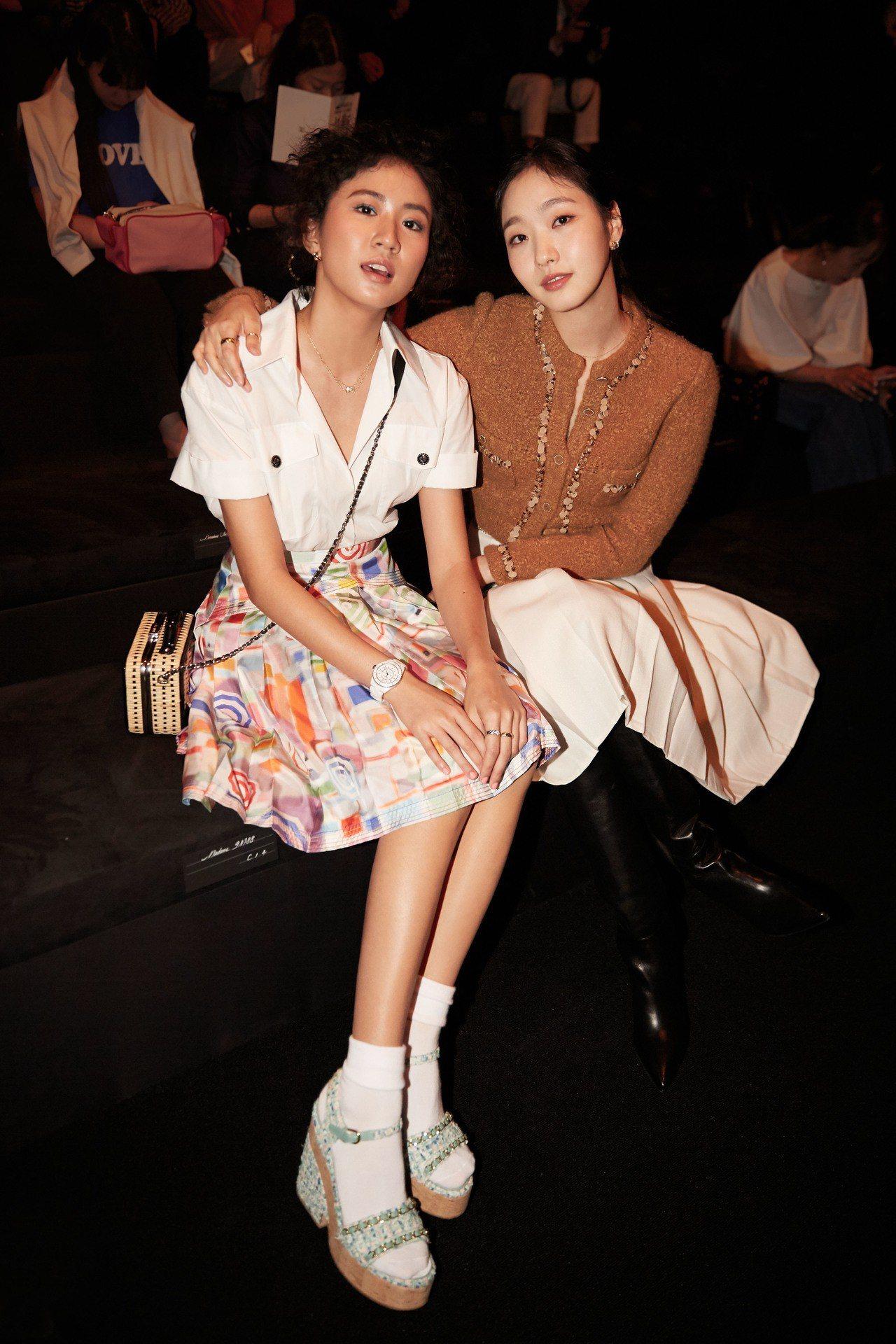 台灣歌手9m88與韓國女星金高恩。圖/香奈兒提供