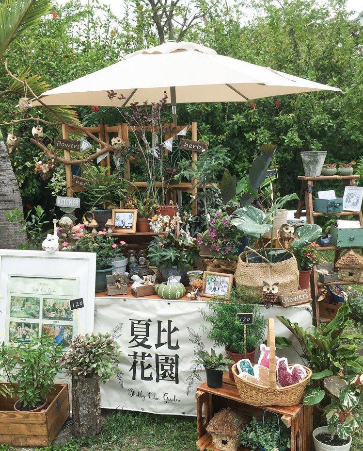 夏比花園,有多款療癒系植栽、花卉和歐式盆具,DIY打造歐式花園。圖/誠品提供