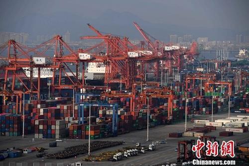 圖為廈門港。中新社資料照片