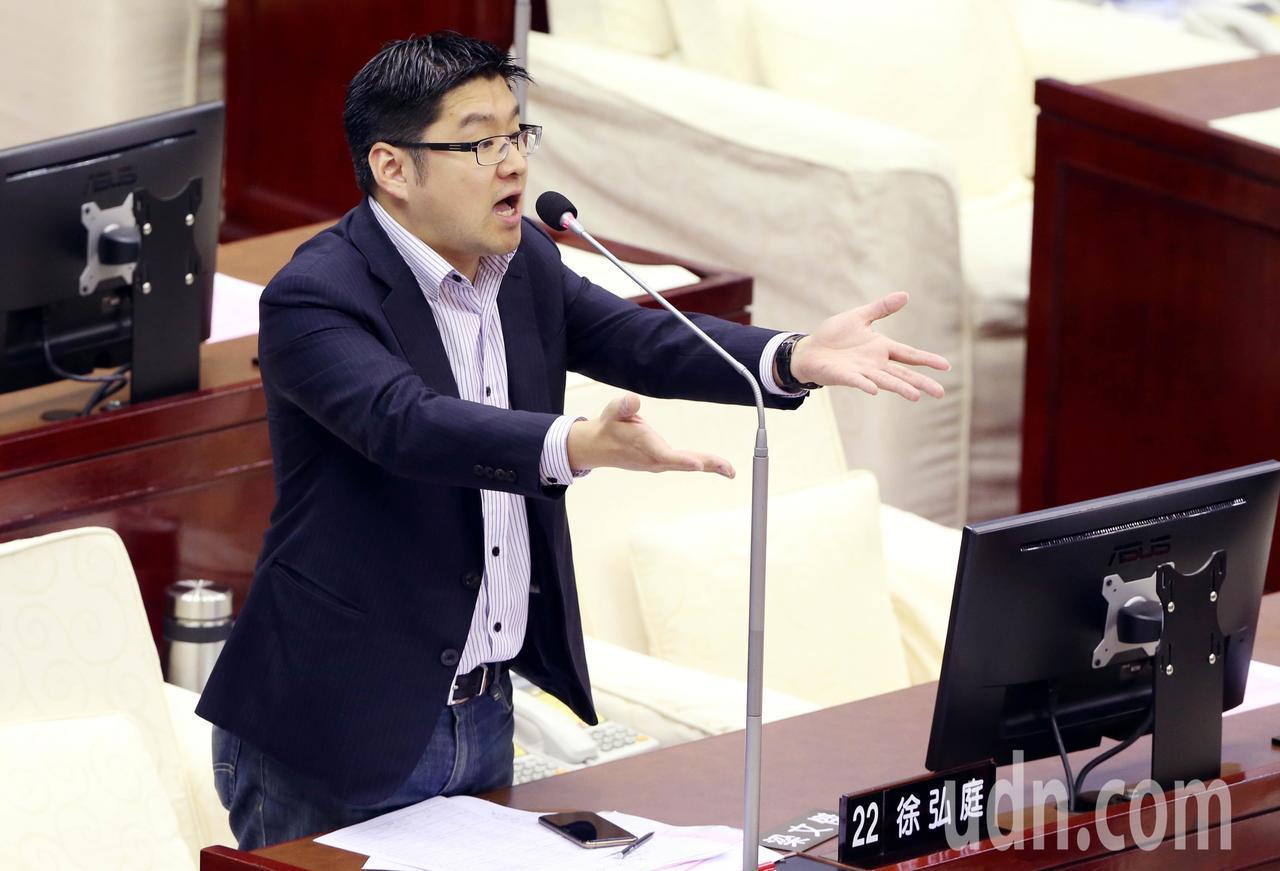 國民黨台北市議員徐弘庭。記者林俊良/攝影