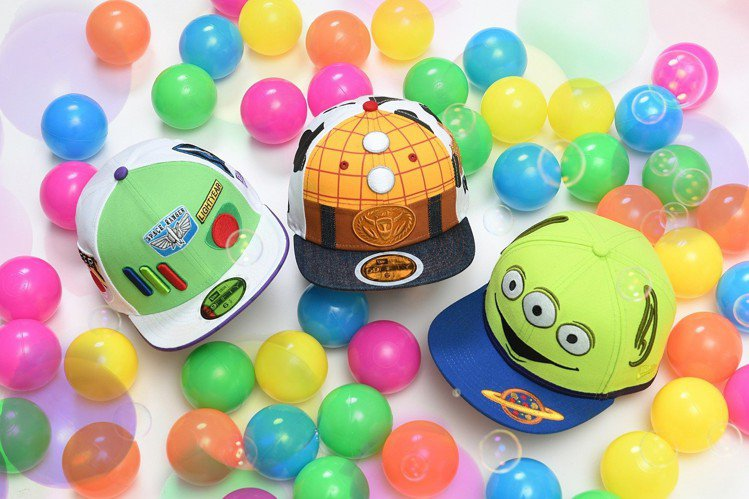 《NEW ERA x玩具總動員》帽款,包含成人、親子及兒童帽款。圖/NEW ER...