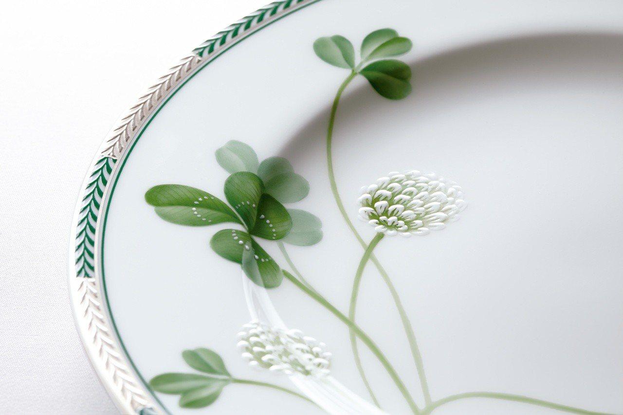 Noritake經典的幸運草系列瓷器。圖/旺代提供