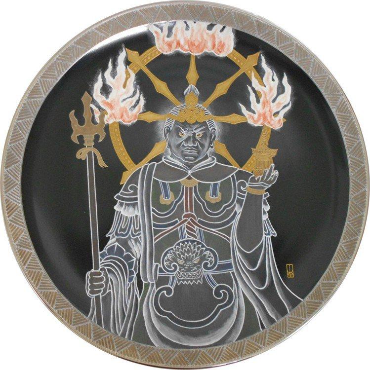 Noritake多聞天王展示盤。圖/旺代提供