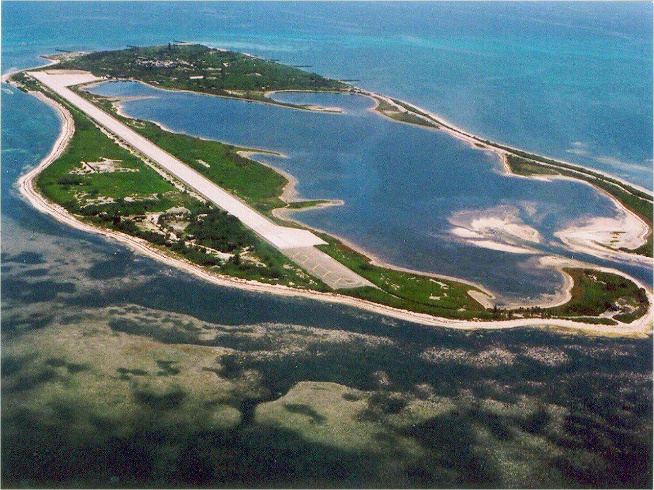 東沙島空拍圖。 圖/海巡署提供