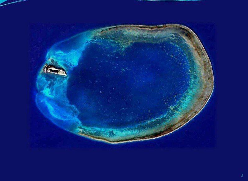 東沙環礁空拍圖。 圖/海巡署提供