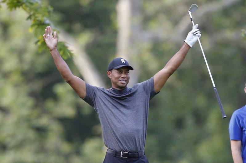 史尼德82場PGA冠軍紀錄,老虎伍茲本周拚追平。 美聯社