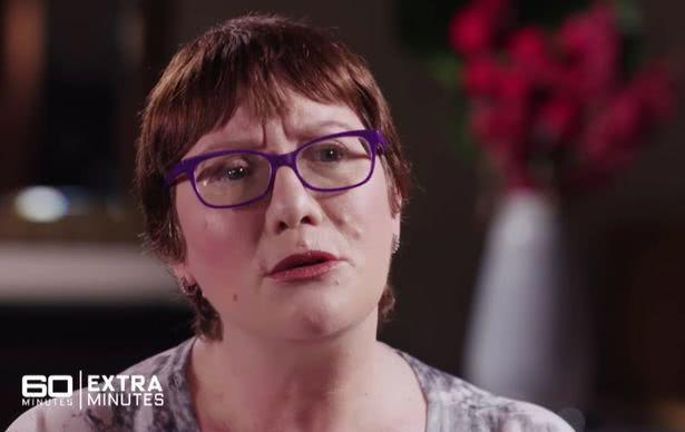 澳洲女子珍妮海恩斯罹患嚴格的人格分裂症。圖取自60 Minutes