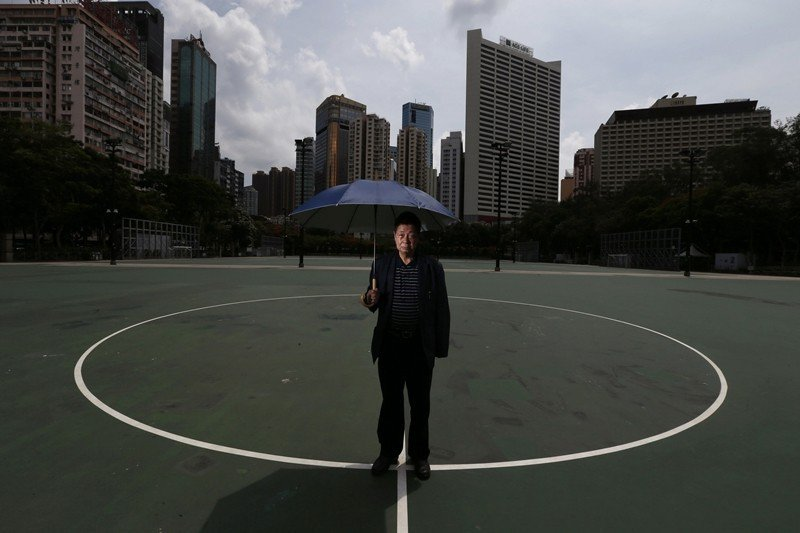 圖為黃雀行動負責人之一六叔陳達鉦,攝於2014年5月26日,香港維園。 圖/路透社