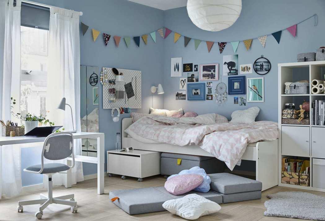 IKEA也有多款床框,從嬰幼兒到青少年都能找到適合的款式,輕鬆打造家裡的童趣角落...