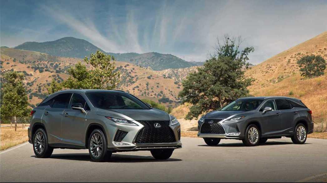 小改款美規Lexus RX。 摘自Lexus