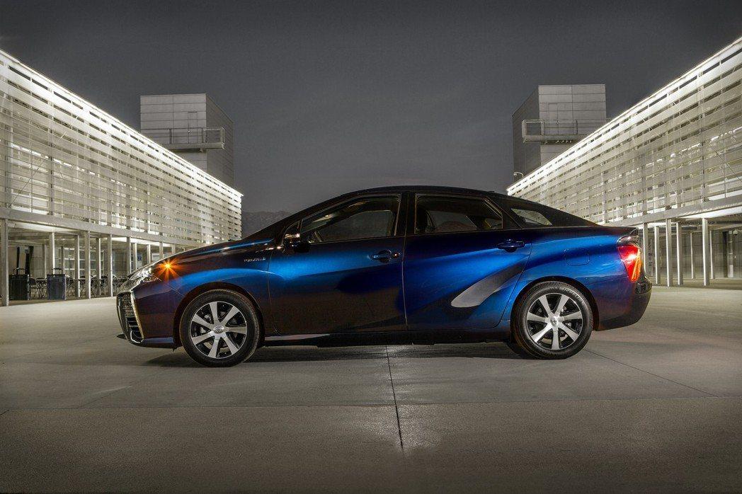 Toyota Mirai是豐田第一代FCEV氫燃料車。 摘自Toyota