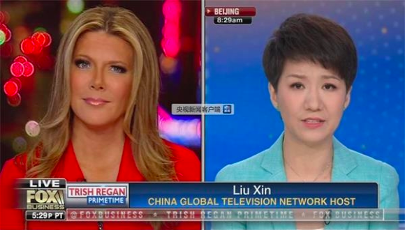 眾所矚目的美中女主播的貿易戰「約辯」今晨8時正式登場。隸屬央視下的中國國際電視台...