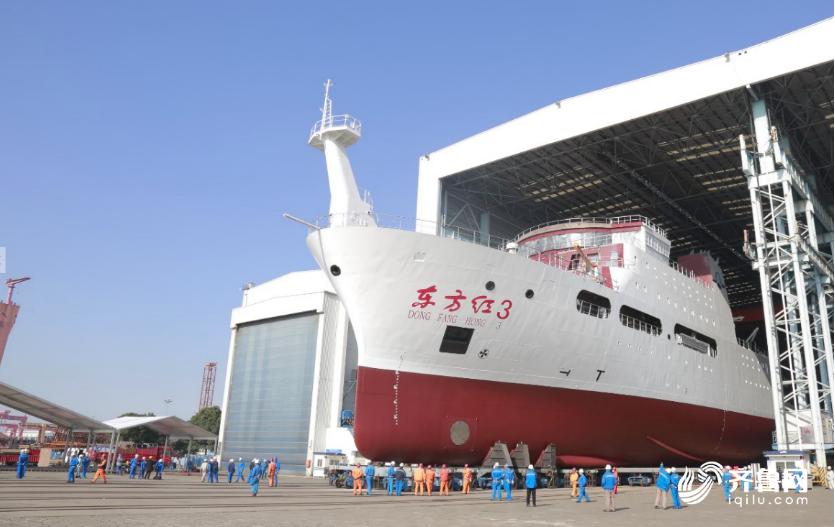 中國大陸製造的海洋綜合科考船「東方紅3」預計5月30日交付,這艘船的低噪音控制指...
