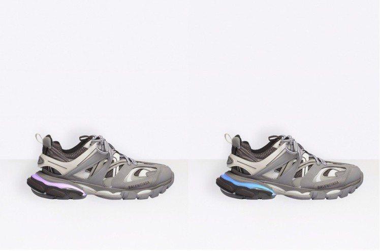 LED Track鞋款閃爍的燈光還能變換6種顏色,在官網上賣到缺貨。圖/摘自官網