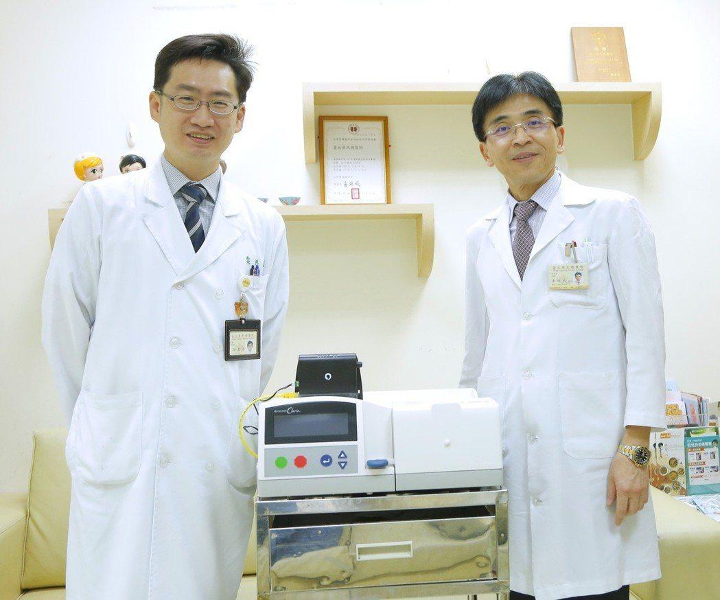 台北榮總今年四月導入新一代全自動腹膜透析雲端監測系統,為我國首例,目前共有9名患...