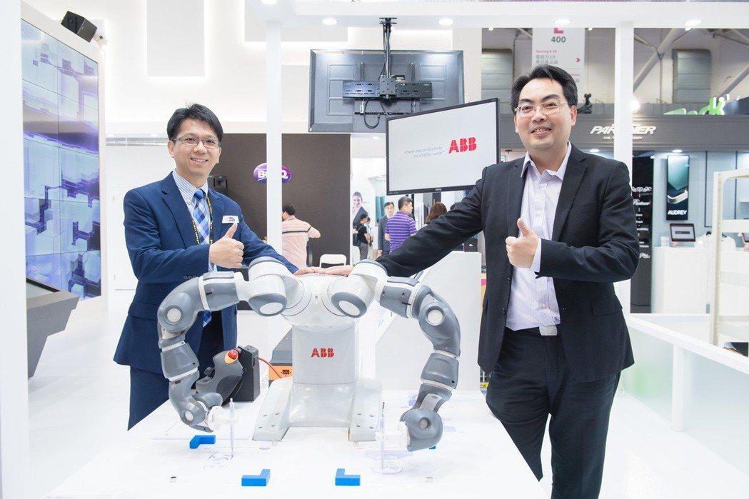 佳世達成為ABB台灣第一家機器人AVP通路夥伴。圖/佳世達提供