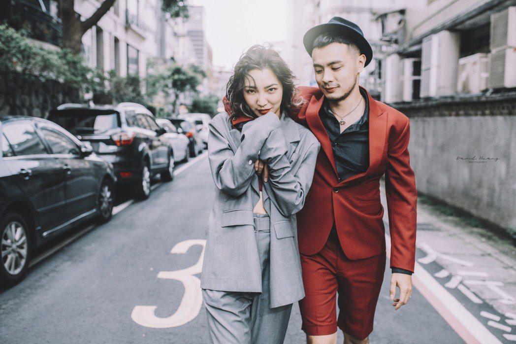 高雋雅和老公Edward婚紗照很有自己的風格。圖/海納百川提供