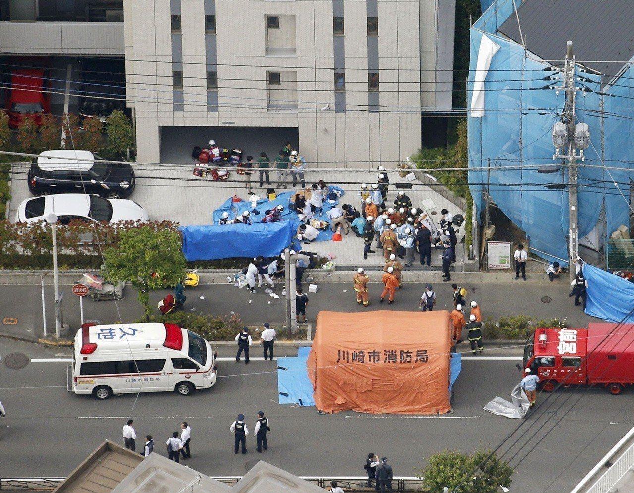 日本神奈川縣川崎市28日發生男子隨機砍人事件,共造成19人受傷。 路透