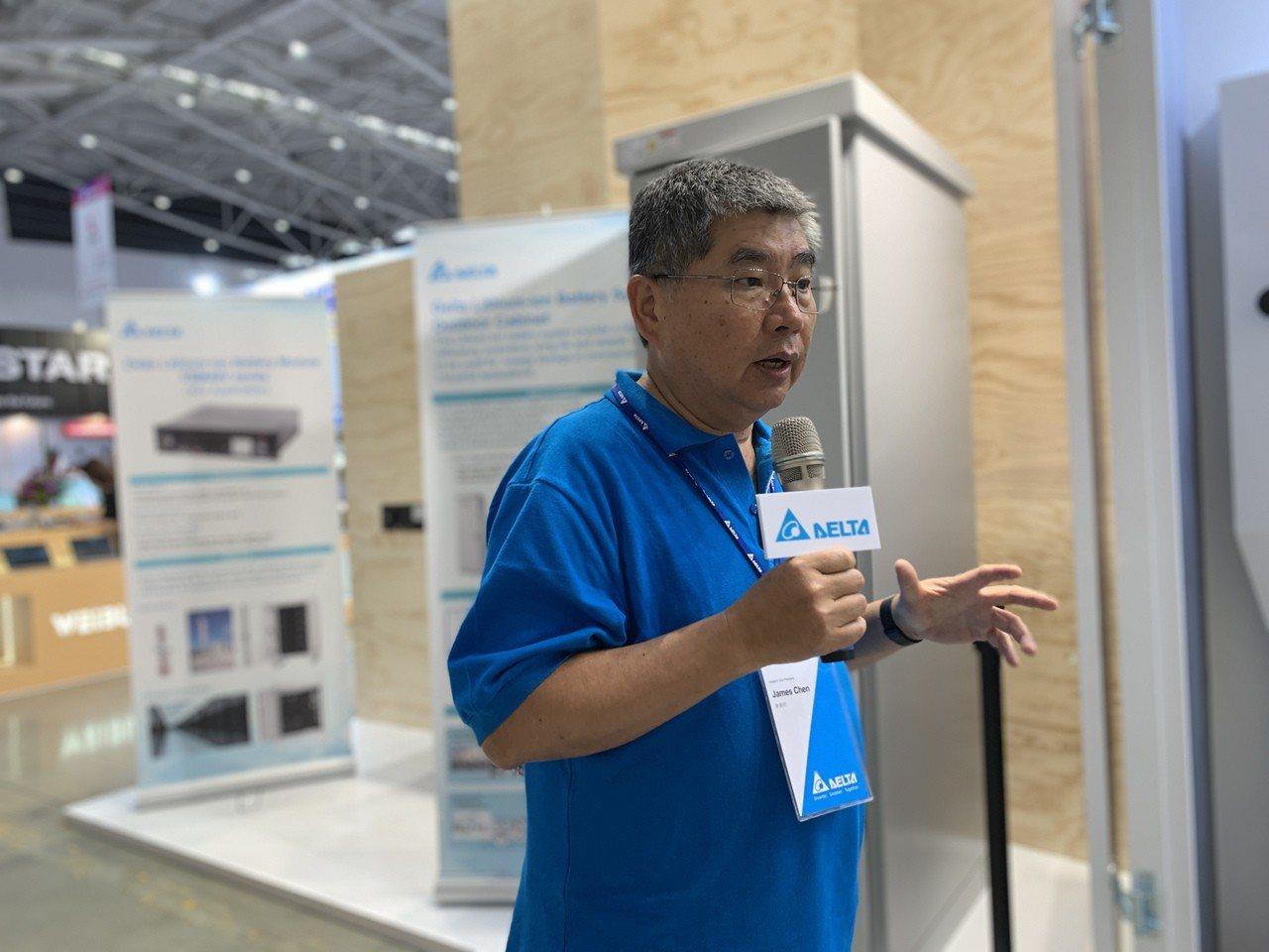 台達電儲能元件主管陳錦明表示,台灣的能源問題主要是在用電不均勻,透過儲能優化系統...