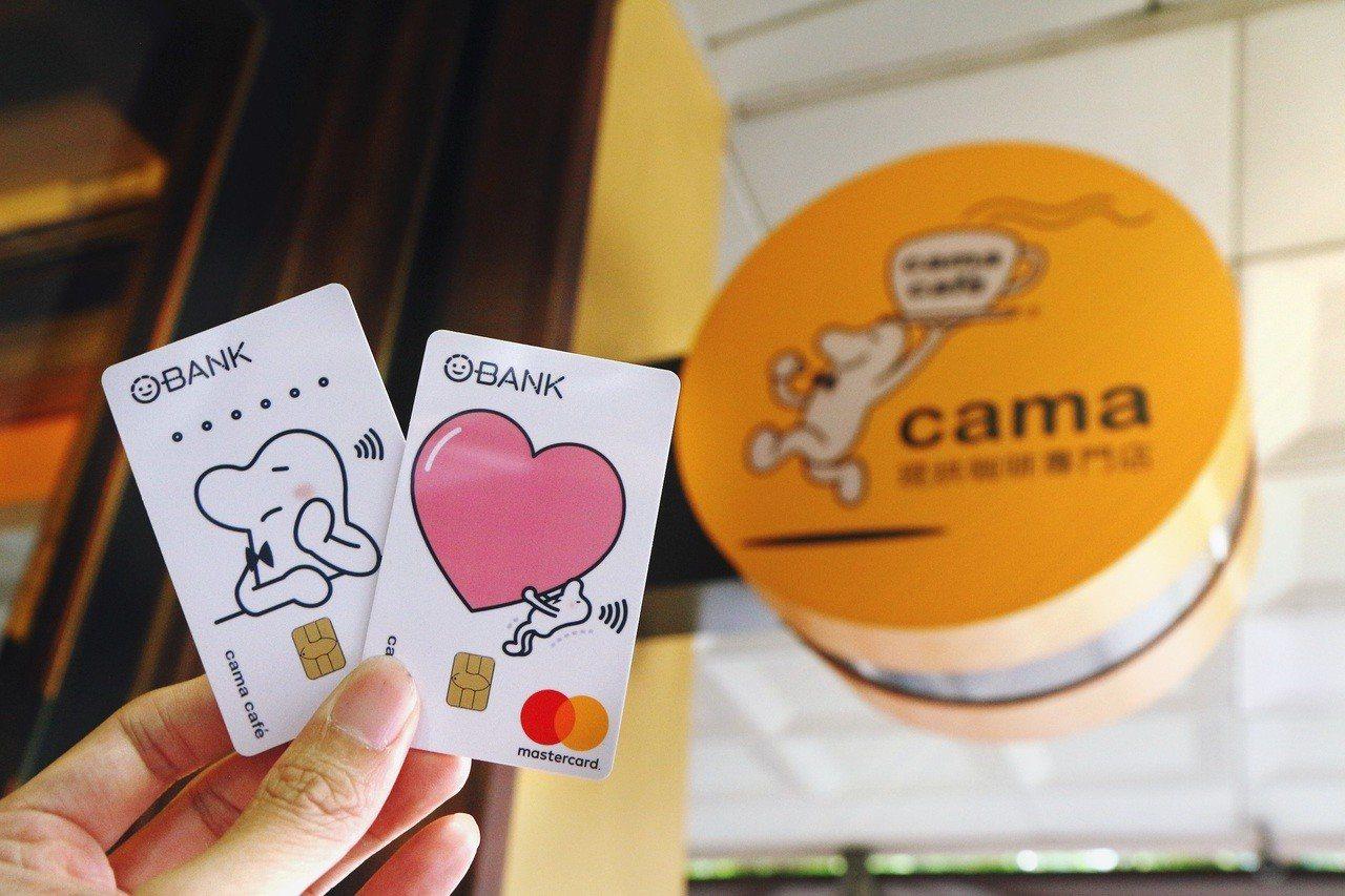 刷「王道銀行cama café聯名卡」最高享5.3%現金回饋。圖╱王道銀行提供