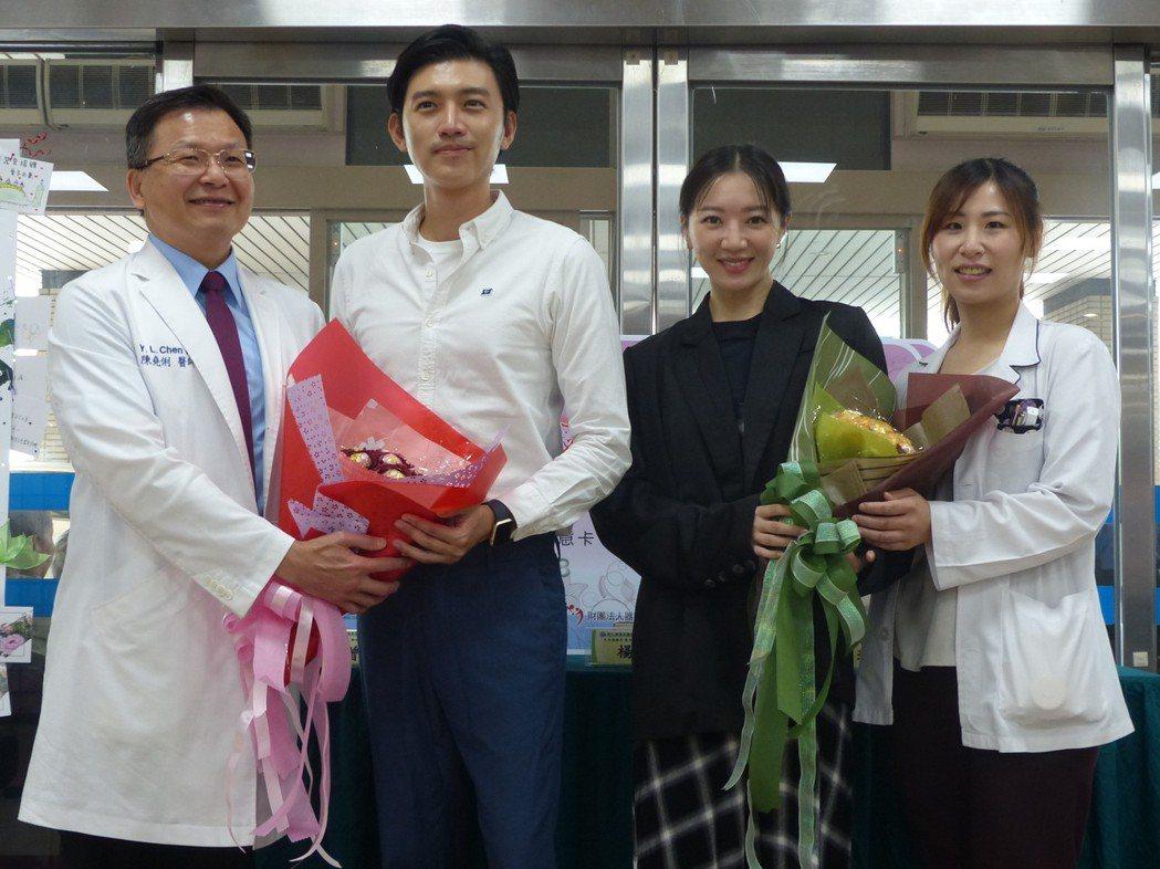 戲裡戲外「外科醫師」、「器官協調師」相見歡,左起:彰基副院長陳堯俐醫師、演員曾少...